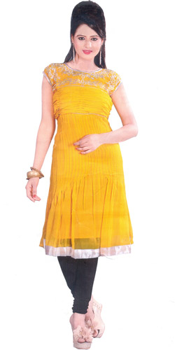 Sprightly Glaze Georgette Kurti