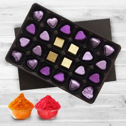 24pcs Home made Assorted chocolate with free Gulal/Abir Pouch