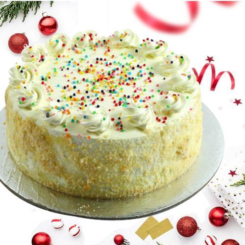 Lustrous 2 Kg Vanilla Cake