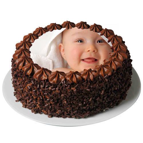 Molded Fancy 2 Kg Chocolate Photo Cake