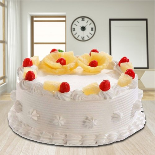 Angelic 2.2 Lbs Eggless Pineapple Cake from 3/4 Star Bakery