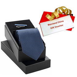 Stunning Combo of Mainland China Gift Voucher of Rs.1000 with Tie N Tiepin Set