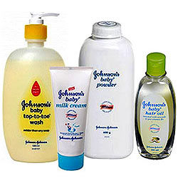 Johnsons and Johnsons Baby Bathing Hamper