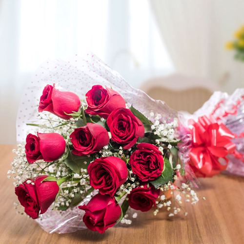 Deliver Red Roses Bouquet Online