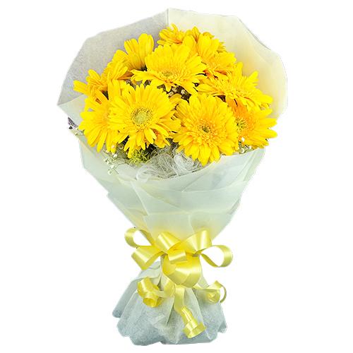 Artful Yellow Gerberas Bouquet