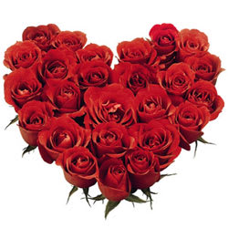 Endless Love with Heart Shaped Red Roses Bouquet