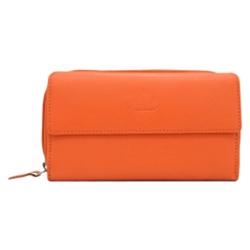 Scintillating Urban Forest Ladies Wallet in Orange Made of Genuine Leather