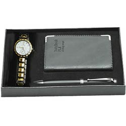 Exclusive nice Watch with Notepad and Pen gift set