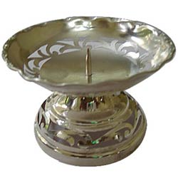 Intricately designed Silver Plated Candle Stand