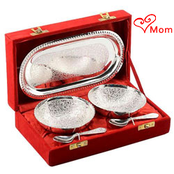 Magnificent Silver Plated Tray Bowl Set