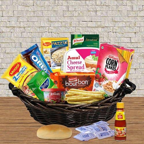 Alluring Gourmet Food Gift Basket