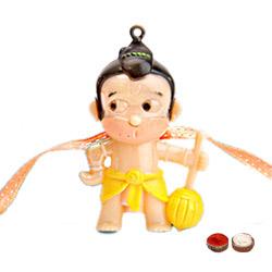 Pretty 1 Hanuman Design Kid Rakhi