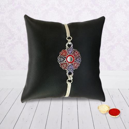 An Elegant Silver Rakhi