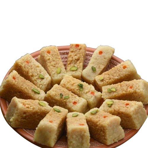 Garnishing Connection Milk Cake Sweets Box from Haldirams
