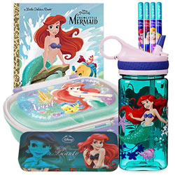 Classic Collection of Princes Ariel - The Little Mermaid Stationery Kit for Kids