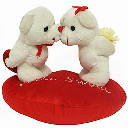 Ready-to-Please Kissing Couple on Heart