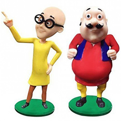 Grinning Happiness Motu Patlu Duo