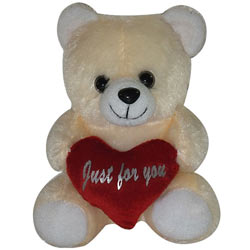 Just For You Teddy With Heart (8 Inches)