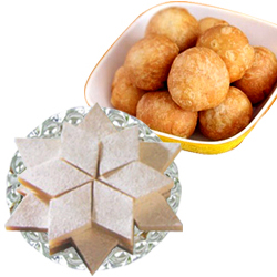 Kachori And Kaju Katli