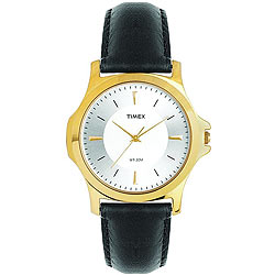 Fashionable Golden Coloured Round Dialed Gents Watch Brought to You by Timex