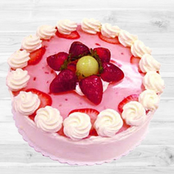 Relishing Strawberry Cake (1Lb) to Ahmedabad Amraiwadi