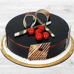 Amazing 1 Lb Dark Chocolate Truffle Cake to Bhavnagar