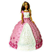 Lip Smacking Barbie Cake to Surat