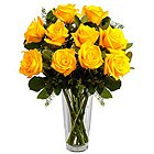 Quintessence Yellow Roses in a Vase to Krishnanagar
