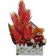 Fall in Love Artificial Flower Basket