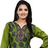 Gorgeous Green Printed Crepe Silk Kurti