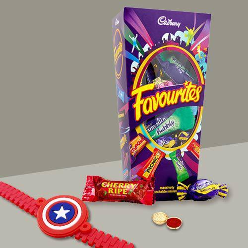 Elegant Pack of Kid Rakhi with Mix Cadbury Chocolates