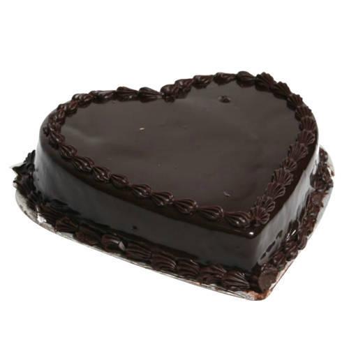 Online Order Heart-Shape Chocolate Truffle Cake