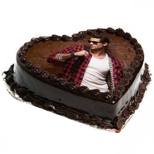 Online Heart Shape Photo Cake