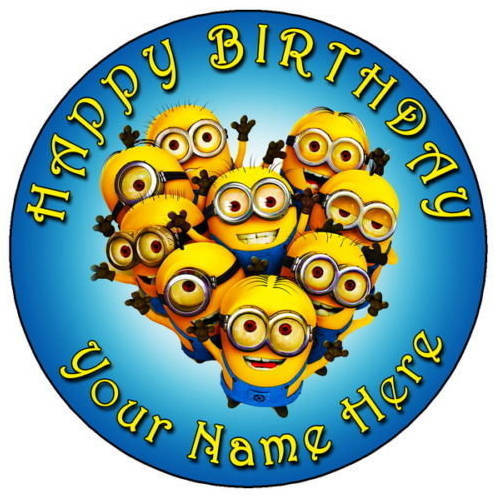 Send Online Minions Photo Cake for Kids