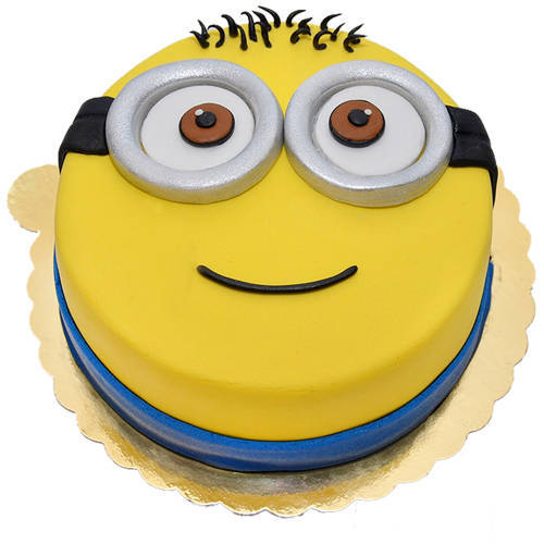 Gift Happy Minions Fondent Cake for Kids Online