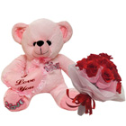 Comfy Teddy Bear with Bouquet