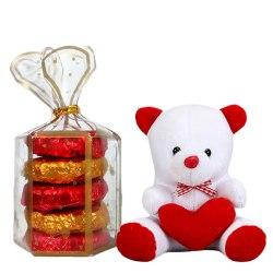 Cute Teddy Bear with Tasty Oreo Homemade Chocolates