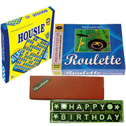 Delectable Handmade Chocolates with Board Games Set