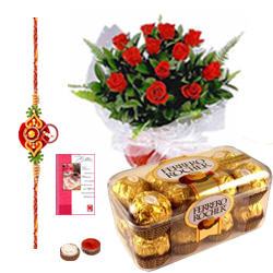 Mouth-Watering Chocolaty Love with Fancy Rakhi