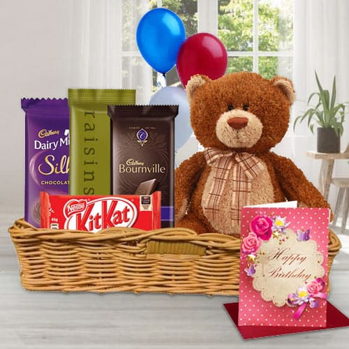 Online Gift Basket of Birthday Gifts N Chocolates