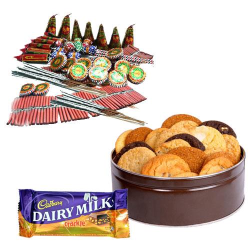 Assorted Crackers, Cadbury Chocolate n Crunchy Cookies