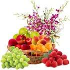 Nourishing Fresh Fruits Delight Decorated Basket