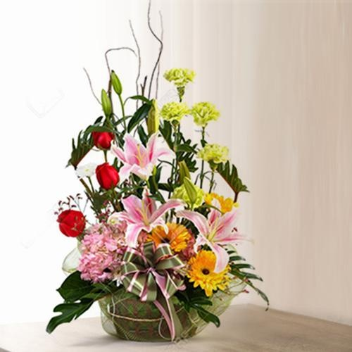 Elegant Good Wishes Special Mixed Flowers Arrangement
