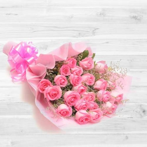 Book Online Bouquet of Peach/Pink Roses<br>