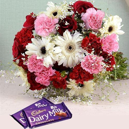 Rhapsodic Blossom Olio with 2 Dairy Milk Chocolate