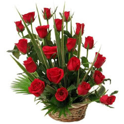 Book Red Roses Basket Online