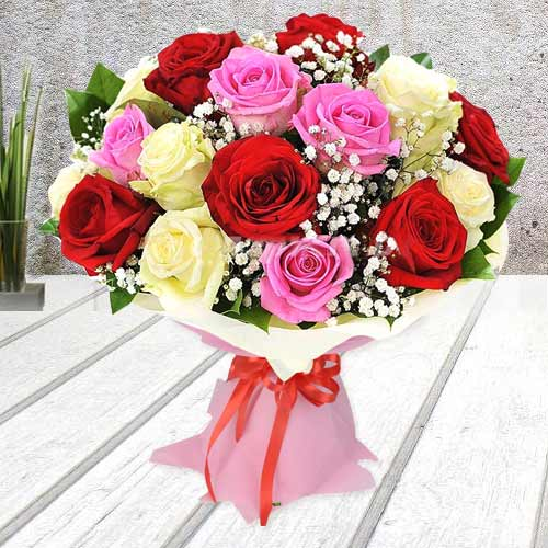 Gift Online Bouquet of Mixed Roses