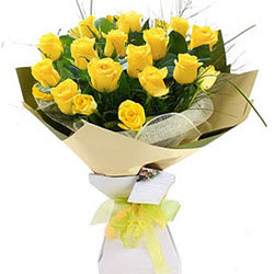 Shop Online Bouquet of Yellow Roses