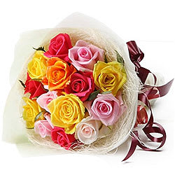 Order Online Mixed Roses Bunch