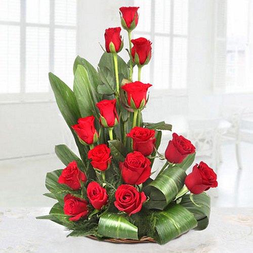 Order Online Arrangement of Red Roses